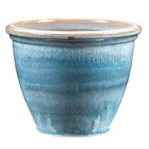 Bloempot Caroline - blauw - 27,5x30 cm