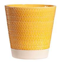 Bloempot Steef - geel - 28x28 cm