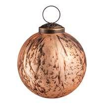 Kerstbal Antiek - goudkleur - glas - 7,5 cm