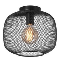 Plafonniere Meknes is zwart. Deze plafondlamp is stijlvol en elegant en helemaal volgens de laatste trend op het gebied van verlichting.