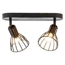 2 spot Kevin est un spot noir au look industriel et robuste, pour deux sources lumineuses. Ce spot est très pratique quand vous voulez éclairer un endroit ou un article spécifique à la maison. Recupel inclus.