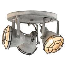 3-spot Do heeft een stoere en industriële cementkleur. Dit spotje is geschikt voor drie lichtbronnen met een maximaal vermogen van 25 Watt.