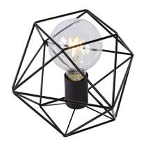 Lucide tafellamp Octagon - zwart - 18 cm