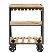 Trolley Onno - naturelkleur/zwart - 78x59x37 cm
