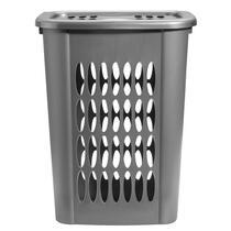 Panier à linge Carolien - gris - 58,5x45x33 cm