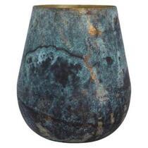 Vase Igor - bleu/noir - 21x24 cm