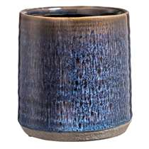 Bloempot Stan - blauw - 13x12,5 cm