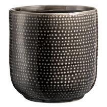 Bloempot Sean - grijs - 13x12,5 cm