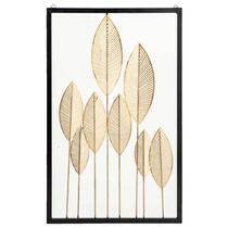Wanddeco Bladeren - zwart/goudkleur - 80x50x3 cm