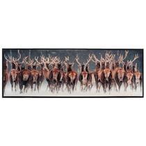 Schilderij Herten - zwart - 43x123x3,5 cm