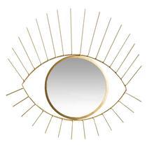 Spiegel Hamburg - goudkleur - 36x35x1 cm