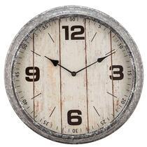 Horloge murale Zinc - grise - 39 cm