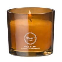 Sfeer bougie parfumée Gold Glow en verre - 7,5x8 cm
