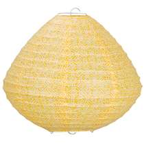 Lampion Okro - Oker - ovaal 28x30 cm