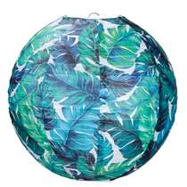 Lampion Verda - Blauw/Groen - rond 30 cm