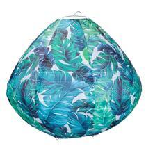 Lampion Verda - Blauw/Groen - ovaal 28x30 cm