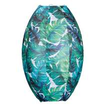 Lampion Verda - Blauw/Groen - ovaal 36x25 cm