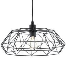 Hanglamp Carlton is een nieuwe vorm draadlamp. Deze zwarte kleur is makkelijk te gebruiken in je interieur.