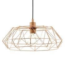Hanglamp Carlton in koperkleurig draad design is een sieraad boven je tafel.