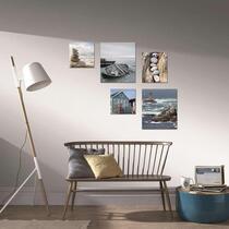 Art for the Home Canvassen set Strand - 5 delen - Blauw - 82x60 cm