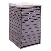 Outdoor Life containerbox Wave - grijs - 125x80x72 cm