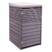 Outdoor Life boîte conteneur Wave - gris - 125x80x72 cm