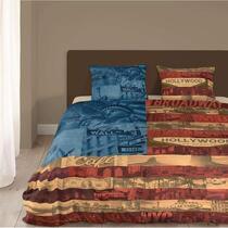 Dit heerlijk zachte dekbedovertrek met stijlvolle  print zal prachtig staan in jouw slaapkamer. Dit Good morning dekbedovertrek is gemaakt van 100% katoen. Geschikt voor een lits-jumeaux bed.