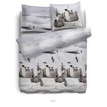 Het Heckett & Lane Snow flanel dekbedovertrek is een mooie toevoeging aan jouw slaapkamer! Het flanellen overtrek is voorzien van een leuk zwart-wit dessin met pinguïns.