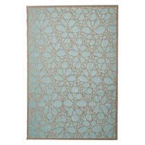 Floorita vloerkleed Fiore is een zeer sterk vloerkleed voor zowel binnen als buiten in de kleur aqua met een afmeting van 135x190 cm.