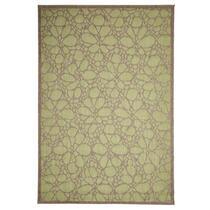 Floorita vloerkleed Fiore is een zeer sterk vloerkleed voor zowel binnen als buiten in de kleur groen met een afmeting van 160x230 cm.