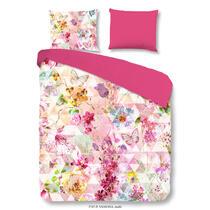 Dit multicolor dekbedovertrek is bedrukt met mozaïek en bloemen en is enkelzijdig bedrukt. De andere zijde is effen roze van kleur. Dit dekbedovertrek is een aanvulling voor uw slaapkamer!