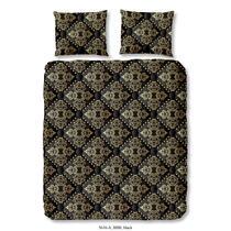 Dit zwarte dekbedovertrek is bedrukt met een symmetrisch goudkleurig patroon. Het dekbedovertrek is dubbelzijdig bedrukt. Dit dekbedovertrek is een aanvulling voor uw slaapkamer!
