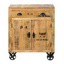 Kastje Guus is gemaakt van mangohout en heeft een robuuste look. De kast heeft stoer vormgegeven handgreepjes op de deurtjes en lade. Dit kastje biedt zowel in als bovenop de kast genoeg plaats voor allerlei spullen.