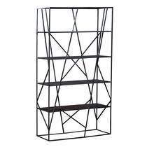 Boekenkast Stijn is een zwarte, industriële kast van metaal. Stijn is een lust voor het oog. De boekenkast beschikt over vier planken.