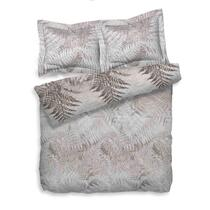 Heckett & Lane dekbedovertrek Venne is een tweepersoonsdekbedovertrek van 200x200/220 cm en is gemaakt van 100% katoentwill. Dekbedovertrek Venne toont een varenbos, in grijstinten.