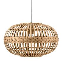 Hanglamp Amsfield van EGLO is een moderne hanglamp gemaakt van gebogen en gevlochten hout met een diameter van 38 cm.