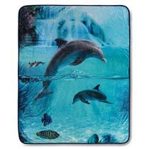 Good Morning plaid Will - blauw - 130x160 cm