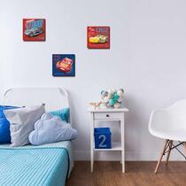 Disney tableaux en canevas Cars - multicolore - 3x 30x30 cm