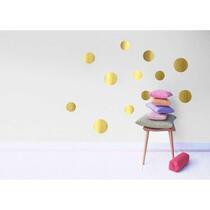 Art for the Home muurstickers Stippen - goud - 70x25 cm