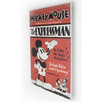 Disney canvas schilderij Mickey The Expressman - rood - 40x50 cm