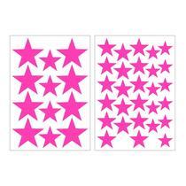 Art For The Home muurstickers Sterren - roze - 17,5x25 cm