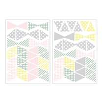 Art For The Home muurstickers Driehoek - multikleur - 17,5x25 cm