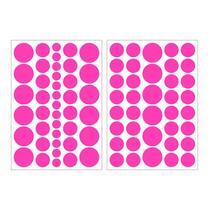Art For The Home muurstickers Stippen - roze - 17,5x25 cm