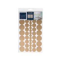 Art for the Home muurstickers Stippen - goud - 17,5x25 cm