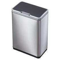 EKO recycling sensor afvalbak Mirage - zilverkleurig - 2x20l