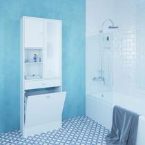 Symbiosis armoire de salle de bains Bladstrup - blanche - 181,1x62,6x28,4 cm