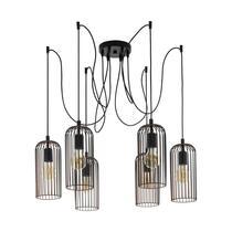 EGLO hanglamp Roccamena 6-lichts - zwart/koperkleurig