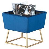 Kruk Surin - blauw/goudkleurig - 42x38x38 cm