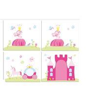 Vipack speelgordijn Princess - roze - 235x140x0,5 cm