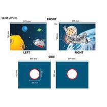 Vipack speelgordijn Space - blauw - 196,5x86,5x74,5 cm